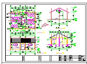 仿古风格公共厕所建筑设计施工图-图一