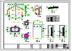仿古风格公共厕所建筑设计施工图-图二