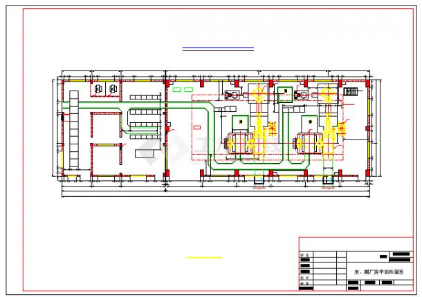 电站厂区枢纽平面cad整套布置设计图-图一