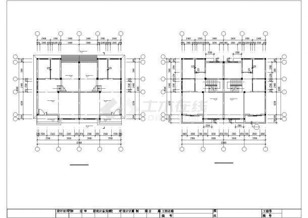 某中型三层框混结构独栋别墅建筑结构设计CAD图纸(含阁楼)-图一