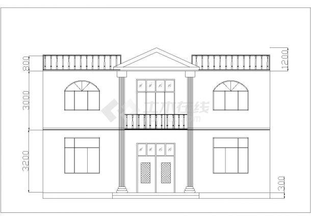 108平米2层砖混结构乡村自建房平立面设计CAD图纸-图一
