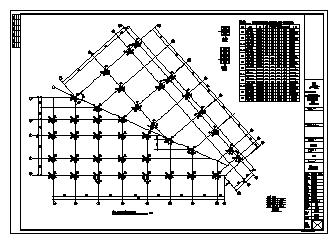 某二层框架结构售楼部结构施工cad图_售楼部施工-图一