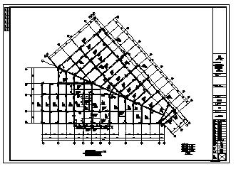 某二层框架结构售楼部结构施工cad图_售楼部施工-图二