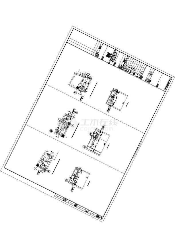 天津师范大学体育馆暖通安装工程施工图cad 图纸-图二