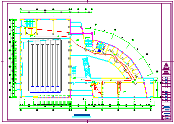 某大型体育馆全套施工电气cad设计图-图一