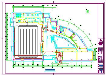 某大型体育馆全套施工电气cad设计图-图二