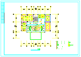 某单位办公室室内装饰设计cad施工图-图二