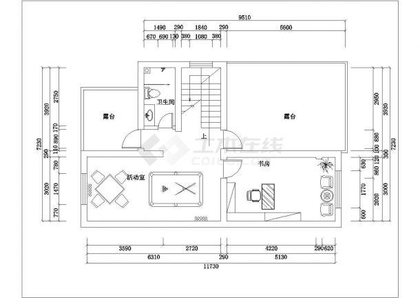 无锡市某村镇220平米3层砖混结构农村自建房平面设计CAD图纸-图一