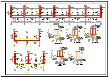 某地底框结构戒毒所施工cad设计图纸-图二