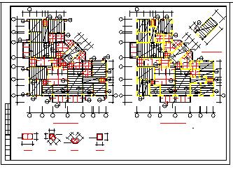 某多层砖混和底框结构施工cad设计图纸-图二