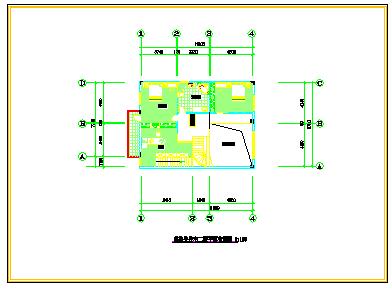 某复式套房室内装修方案cad设计图-图二