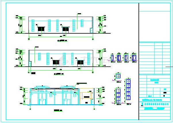 某钢结构建筑物流中心建筑CAD施工设计图纸-图一