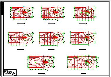 某高层钢塔框剪会展中心cad工程设计图纸-图一