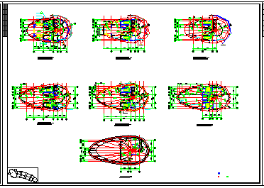 某高层钢塔框剪会展中心cad工程设计图纸-图二