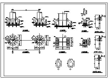标准的钢框架柱脚节点构造大样设计cad图纸-图一