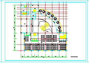 某高层综合办公楼建筑cad方案施工设计图纸-图一