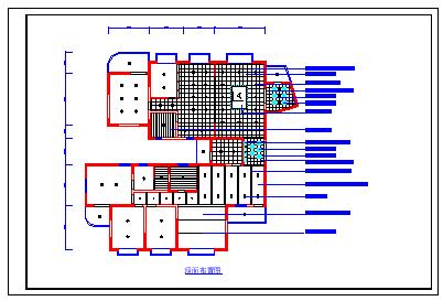 某广告公司办公区室内装修cad设计图-图二