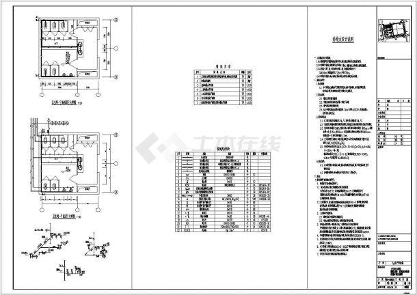 [安徽]某厂区生产研发楼全套给排水施工图纸(24米、5万立方)-图一