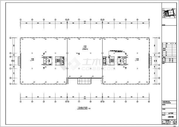 [安徽]某厂区生产研发楼全套给排水施工图纸(24米、5万立方)-图二