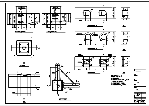 某钢框架通用节点构造设计cad图纸-图一