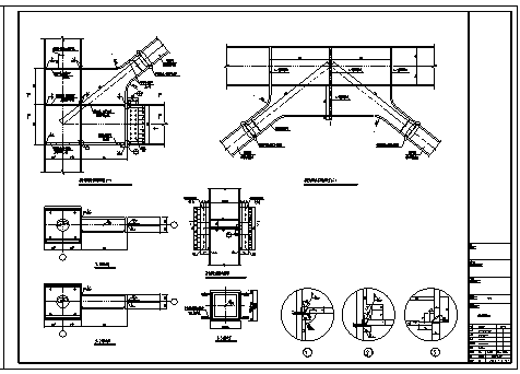 某钢框架通用节点构造设计cad图纸-图二