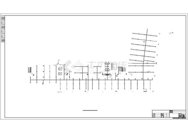 上海某商业街1.4万平米13层框架结构办公楼给排水设计CAD图纸-图一