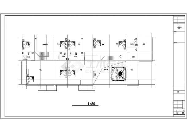 成都某别墅区框架结构地下一层地上两层住宅楼建筑设计CAD图(含效果图及说明)-图二
