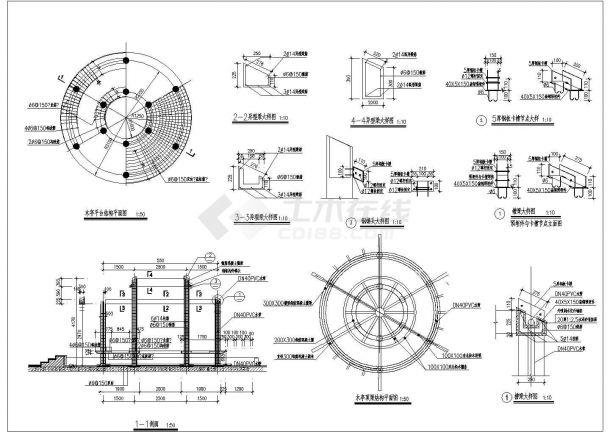 水源广场景观绿化规划设计cad全套施工图(附带效果图)-图一