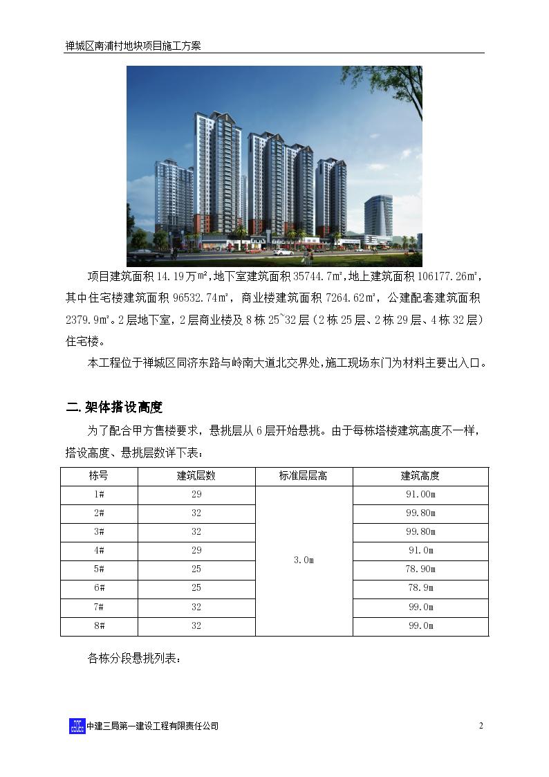 广东高层住宅楼项目悬挑式脚手架施工方案-图二