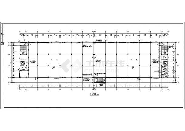 某市大型标准规格厂房建筑施工图-图二