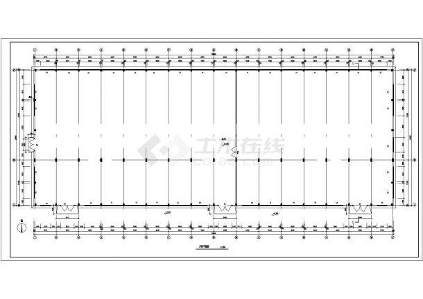 某地大型连跨厂房建筑施工图纸-图二