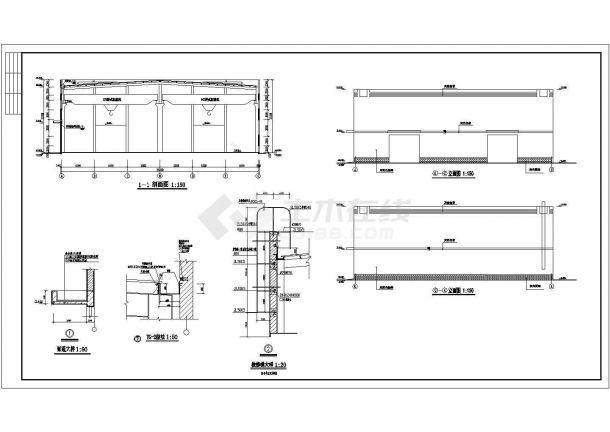 某地大型材料生产厂房建筑施工图纸-图一