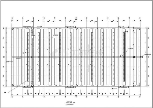 某市大型体育产品厂房建筑施工图-图二