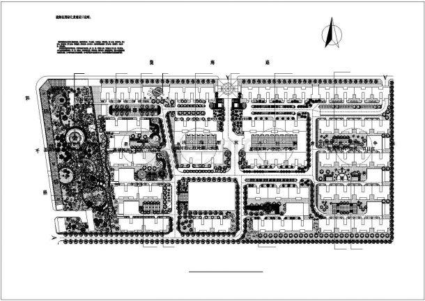 某陇海花苑小区CAD园林设计施工完整规划图-图一