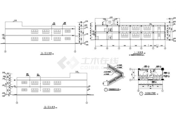 某地多层大型糖业厂房建筑施工图纸-图二