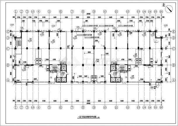 [上海]高层办公楼空调通风及防排烟系统残卷(制冷机房)CAD图纸-图一
