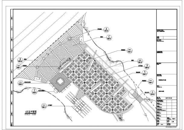 浙江某镇公园CAD园林景观设计完整施工图-图一