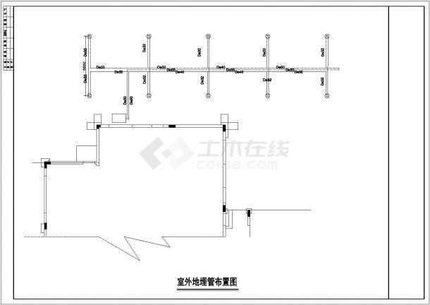 广东省深圳市某山庄别墅空调全套施工布置CAD图纸-图一