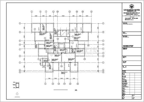 江苏省宿迁市宿豫区南部安置房回迁项目建筑工地施工CAD图纸-图二