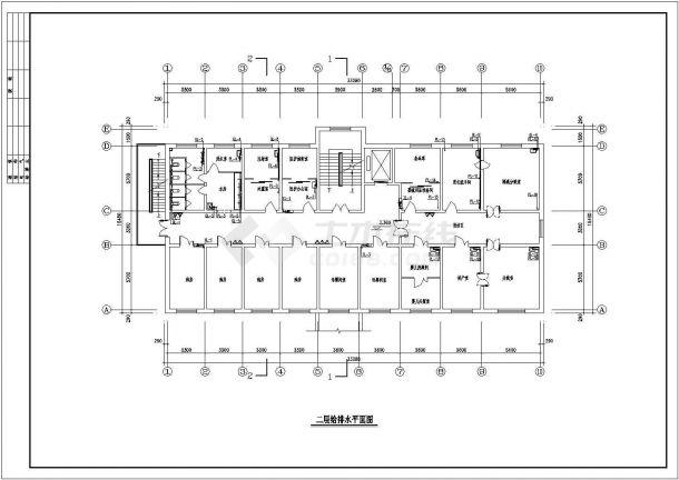 【广东】某地大型4层医院综合楼给排水施工图-图一
