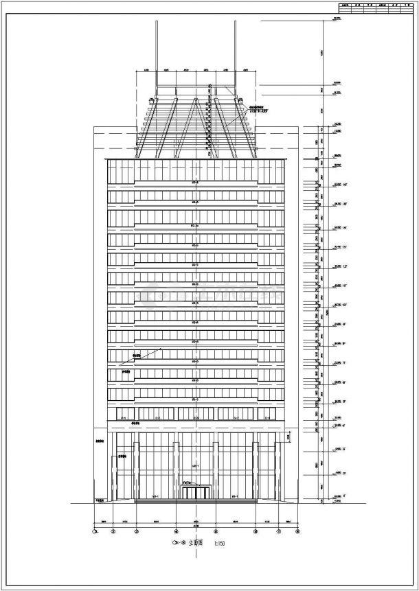 长41米 宽36米 18层14511平米办公楼建筑方案设计图-图一