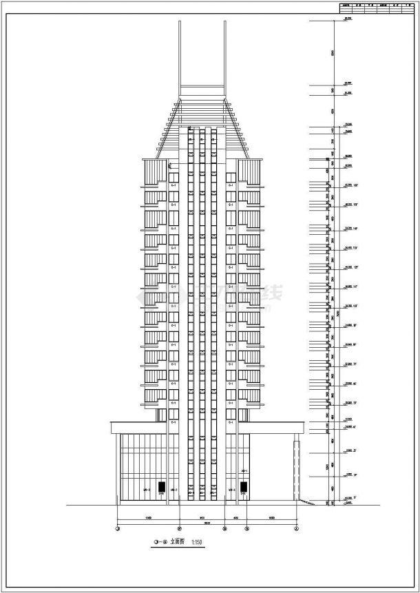 长41米 宽36米 18层14511平米办公楼建筑方案设计图-图二