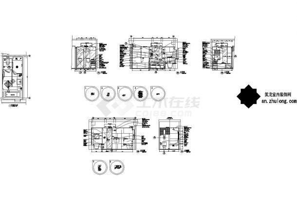 高档商务酒店标准客房T7施工图-图一