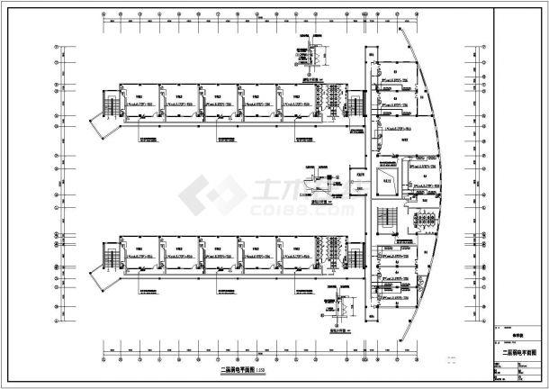 合肥某7736㎡四层框架结构教学楼电气全套CAD设计图-图一