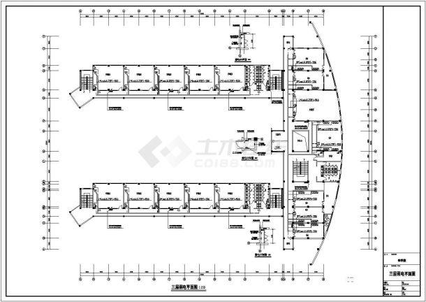 合肥某7736㎡四层框架结构教学楼电气全套CAD设计图-图二