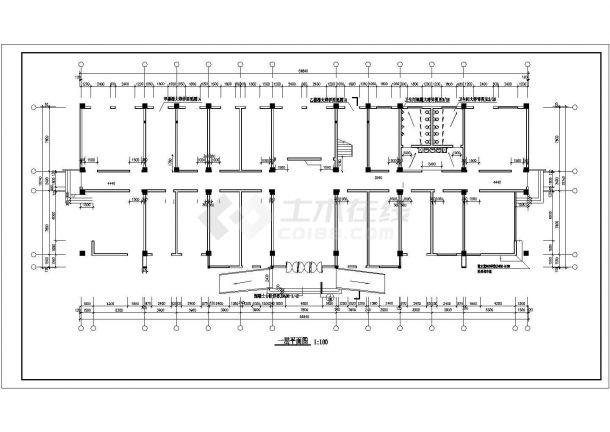 某创业园区五层办公楼建筑全套CAD设计施工图-图一