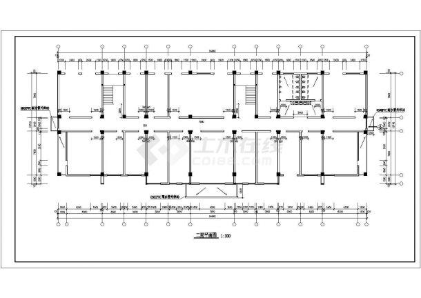 某创业园区五层办公楼建筑全套CAD设计施工图-图二