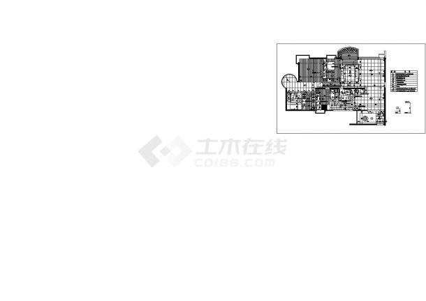 小区设计_某大型小区A户型建筑施工CAD图-图一