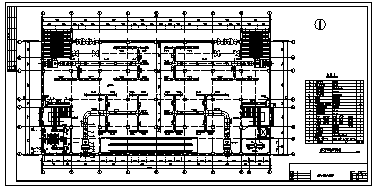 某五层带地下室中型商场中心大厦中央空调系统设计cad图纸-图一