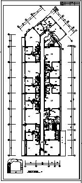 某十一层住宅综合楼舒适性空调及制冷系统设计cad图纸-图一